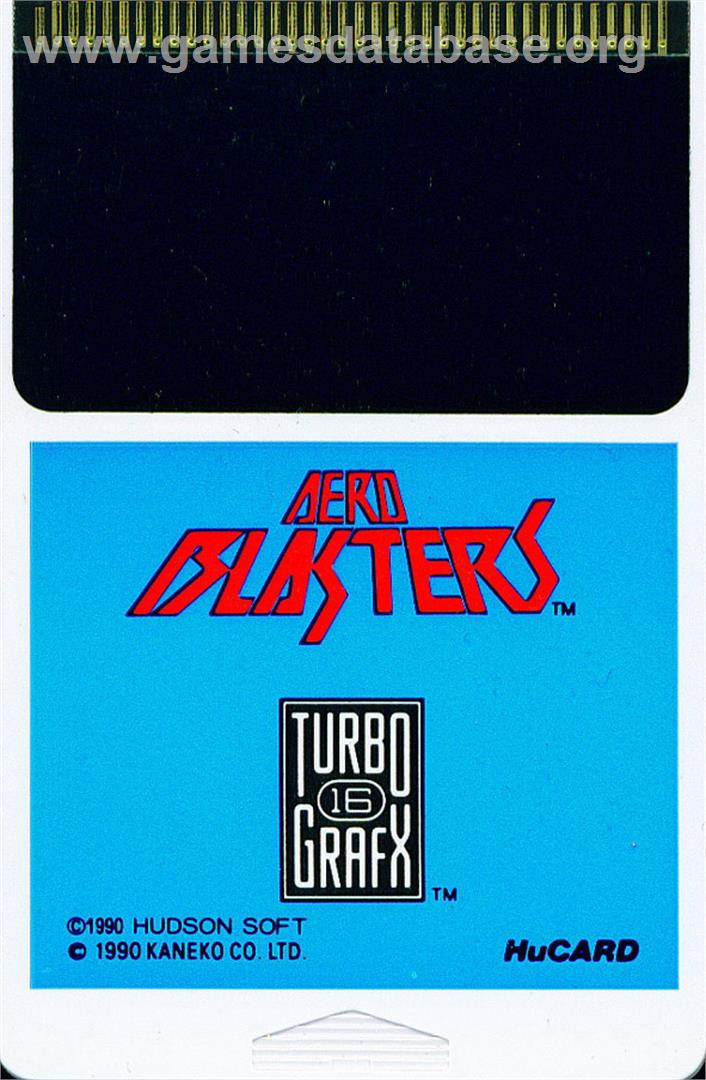 Air Buster - NEC TurboGrafx-16 - Artwork - Cartridge