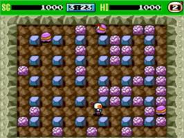 In game image of Bomberman '93 on the NEC TurboGrafx-16.