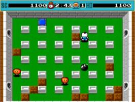In game image of Bomberman on the NEC TurboGrafx-16.