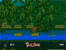 In game image of Disney's TaleSpin on the NEC TurboGrafx-16.
