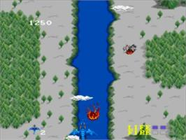 In game image of Dragon Spirit: The New Legend on the NEC TurboGrafx-16.