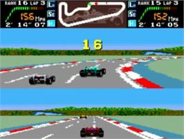 In game image of Final Lap Twin on the NEC TurboGrafx-16.
