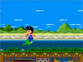 In game image of Jackie Chan's Action Kung Fu on the NEC TurboGrafx-16.