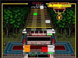 In game image of Klax on the NEC TurboGrafx-16.