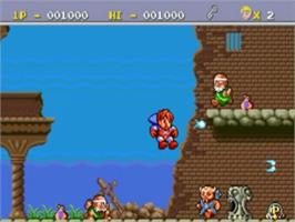 In game image of Legend of Hero Tonma on the NEC TurboGrafx-16.