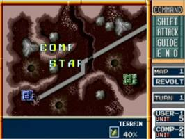 In game image of Military Madness on the NEC TurboGrafx-16.