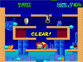 In game image of Parasol Stars: The Story of Bubble Bobble III on the NEC TurboGrafx-16.