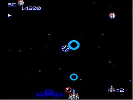 In game image of Super Star Soldier on the NEC TurboGrafx-16.