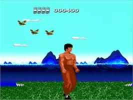 In game image of The Ninja Warriors on the NEC TurboGrafx-16.