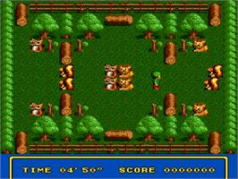 In game image of Tricky Kick on the NEC TurboGrafx-16.