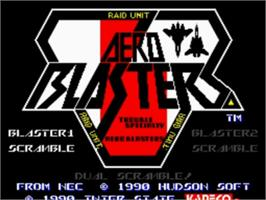 Title screen of Air Buster on the NEC TurboGrafx-16.