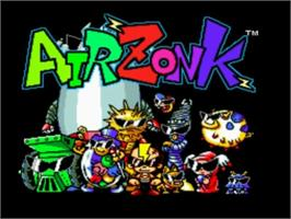 Title screen of Air Zonk on the NEC TurboGrafx-16.