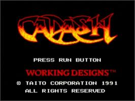 Title screen of Cadash on the NEC TurboGrafx-16.