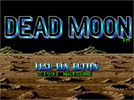 Title screen of Dead Moon on the NEC TurboGrafx-16.