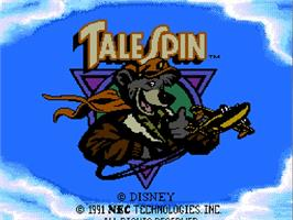 Title screen of Disney's TaleSpin on the NEC TurboGrafx-16.