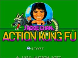 Title screen of Jackie Chan's Action Kung Fu on the NEC TurboGrafx-16.