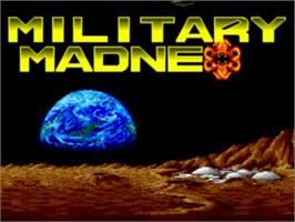 Title screen of Military Madness on the NEC TurboGrafx-16.