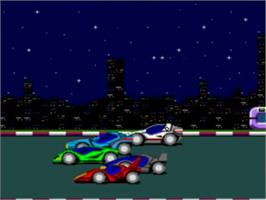 Title screen of Moto Roader on the NEC TurboGrafx-16.
