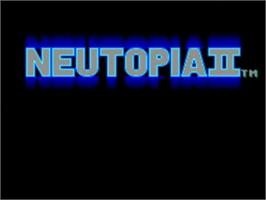 Title screen of Neutopia II on the NEC TurboGrafx-16.