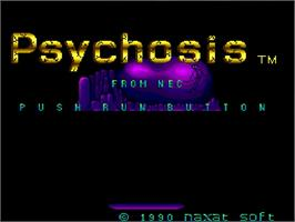 Title screen of Psychosis on the NEC TurboGrafx-16.