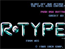 Title screen of R-Type on the NEC TurboGrafx-16.