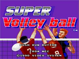 Title screen of Super Dodge Ball on the NEC TurboGrafx-16.