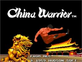Title screen of The Ninja Warriors on the NEC TurboGrafx-16.