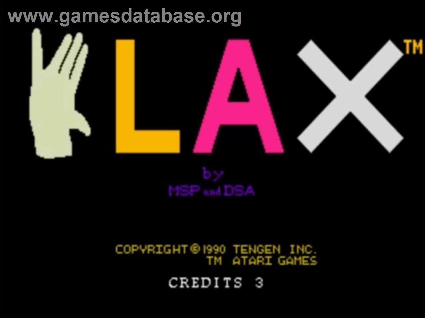Klax - NEC TurboGrafx-16 - Artwork - Title Screen