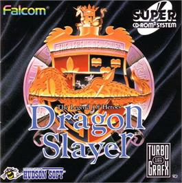 Box cover for Dragon Slayer: The Legend of Heroes on the NEC TurboGrafx CD.