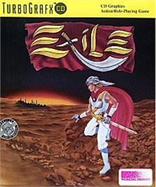 Box cover for Exile on the NEC TurboGrafx CD.