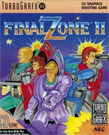 Box cover for Final Zone 2 on the NEC TurboGrafx CD.