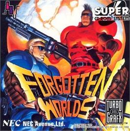 Box cover for Forgotten Worlds on the NEC TurboGrafx CD.