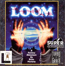 Box cover for Loom on the NEC TurboGrafx CD.