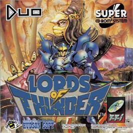 Box cover for Lords of Thunder on the NEC TurboGrafx CD.