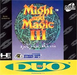 Box cover for Might and Magic III: Isles of Terra on the NEC TurboGrafx CD.