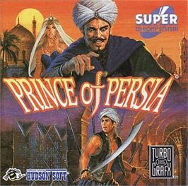 Box cover for Prince of Persia on the NEC TurboGrafx CD.