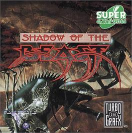 Box cover for Shadow of the Beast on the NEC TurboGrafx CD.