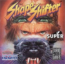 Box cover for Shape Shifter on the NEC TurboGrafx CD.