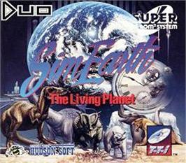 Box cover for Sim Earth: The Living Planet on the NEC TurboGrafx CD.