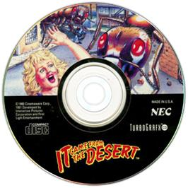 Artwork on the CD for It Came from the Desert on the NEC TurboGrafx CD.