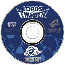 Artwork on the CD for Lords of Thunder on the NEC TurboGrafx CD.