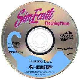 Artwork on the CD for Sim Earth: The Living Planet on the NEC TurboGrafx CD.