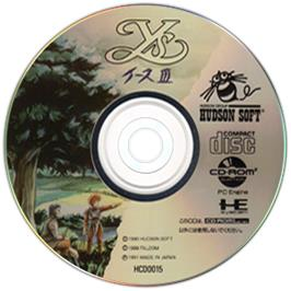 Artwork on the CD for Ys III: Wanderers from Ys on the NEC TurboGrafx CD.
