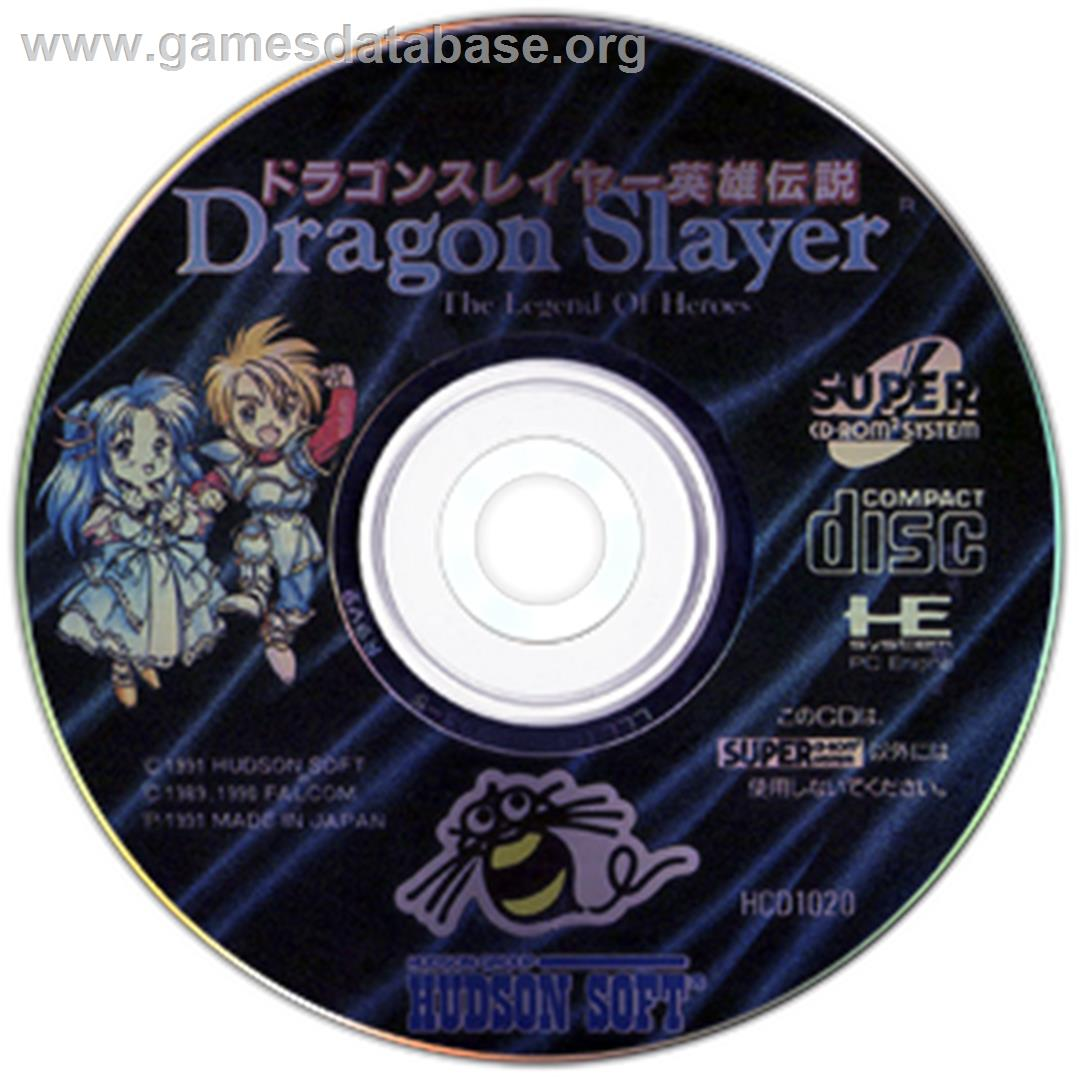 Dragon Slayer: The Legend of Heroes - NEC TurboGrafx CD - Artwork - CD