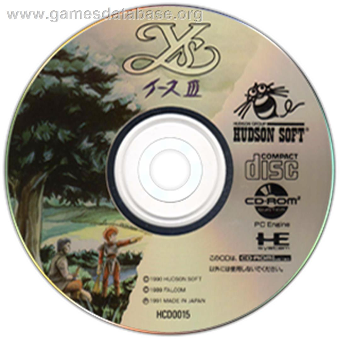 Ys III: Wanderers from Ys - NEC TurboGrafx CD - Artwork - CD