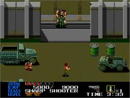 In game image of Last Alert on the NEC TurboGrafx CD.