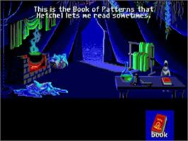 In game image of Loom on the NEC TurboGrafx CD.