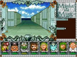 In game image of Might and Magic III: Isles of Terra on the NEC TurboGrafx CD.