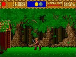 In game image of Shape Shifter on the NEC TurboGrafx CD.