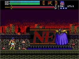 In game image of Valis 3 on the NEC TurboGrafx CD.